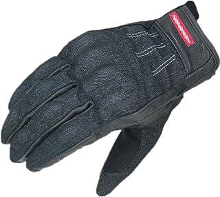 HAOSHUAI Outdoor Sport Denim Lederen Fietshandschoenen Mobiele Telefoon Touch Screen Handschoenen, Meerdere kleuren Ridding handschoenen (Kleur : Blauw, Maat : M)