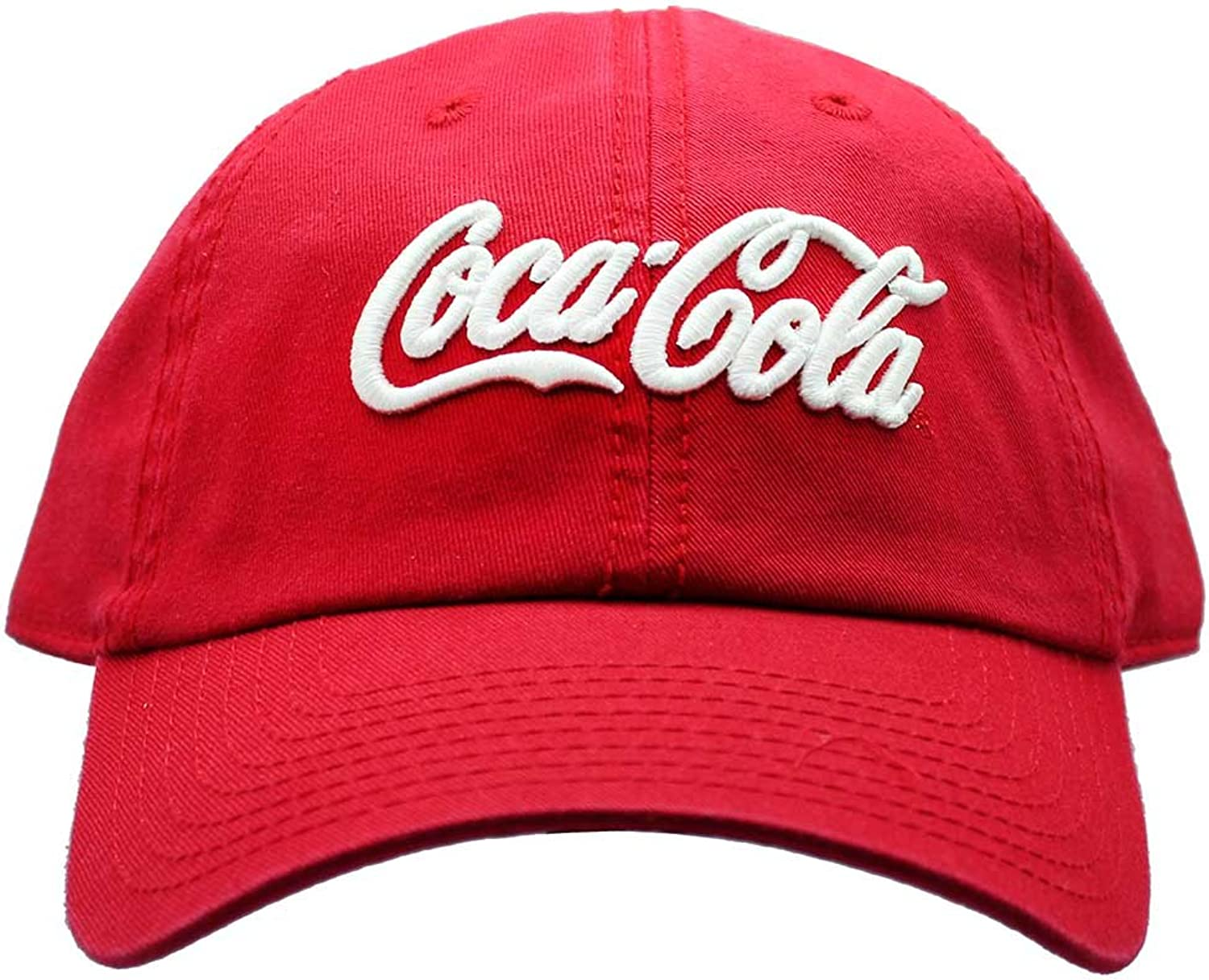 American Needle X CocaCola Washed Raglan Hat in Red White