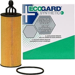 ECOGARD S10040 Cartridge Engine Oil Filter for Synthetic Oil - Premium Replacement Fits Jeep Grand Cherokee, Wrangler, Cherokee / Dodge Grand Caravan, Charger, Journey, Durango, Challenger, Avenger