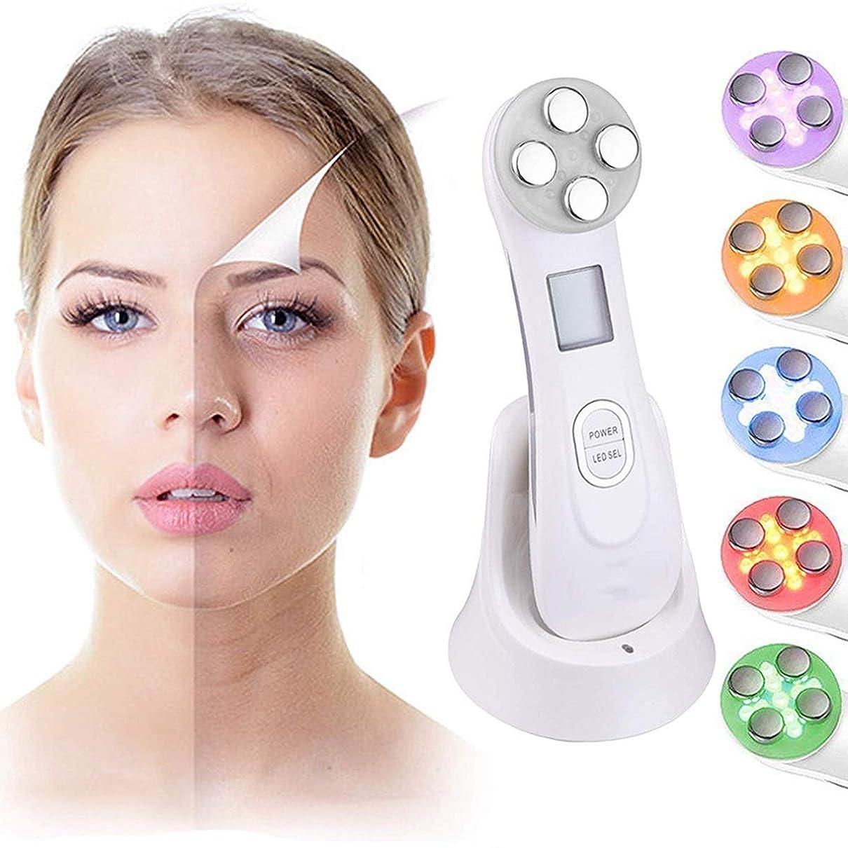 起きる振動する放散するMJWM 美しくなる 美の器械LEDライト療法のしわは顔の機械、表面のためのスキンケアの美機械をきつく締める反老化のアクネの皮の若返りの皮を取除きます 肌を改善する