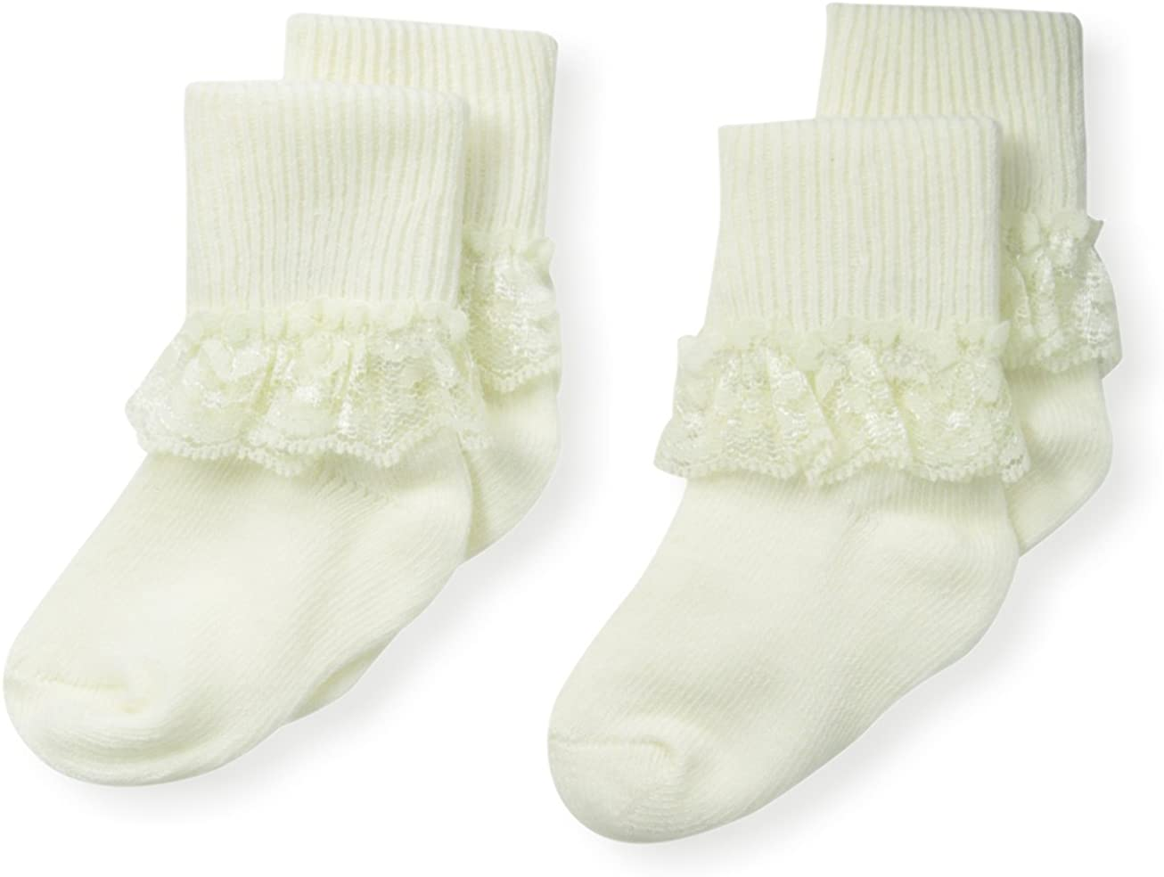 Country Kids Baby-Girls Newborn Simple Lace Sock 2 Pairs