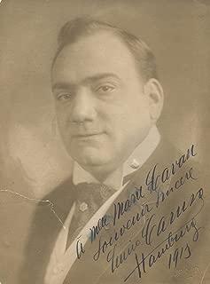 Enrico Caruso OPERATIC TENOR autograph, signed vintage photo