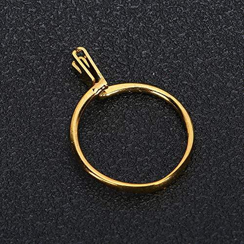 DAUERHAFT Exhibición de Joyas Herramienta de exhibición de Joyas Piedras Preciosas Garra de Resorte Soporte de Diamantes Garra en Forma de Anillo con Pinzas para(Yellow (Short))