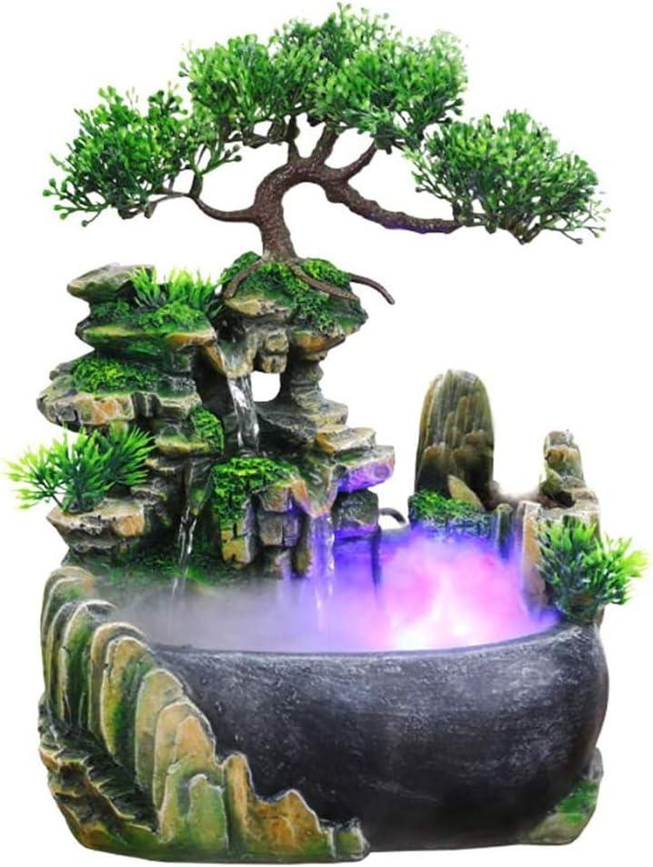 返品交換不可 SURPRIZON 供え Indoor Relaxation Desktop Rock Fountain with Waterfall