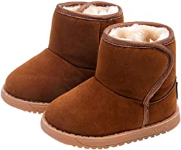 Baby Girl Boy Warm Winter Lovely Hiking Snow Boots Style Cotton Toddler Ankle Warmer Shoes Non-Slip Boot