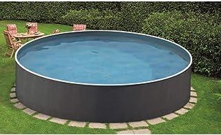 Mountfield AZURO Vario Rattan V2A - Piscina de pared de acero, diámetro 360 x 120 cm, piscina, pantalla interior, sin sistema de filtro