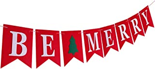 Be Merry Felt Banner Garland Christmas Indoor Outdoor Bunting Party Decorations
