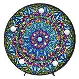 Mandala Diamond Painting Kit with LED Night Light DIY Handmade Artwork 5D Full Drill Crystal Drawing Kit Bedside Lamp Arts Craft for Home Decoration or Gifts-5.91 X 5.91'(Mandala-A)