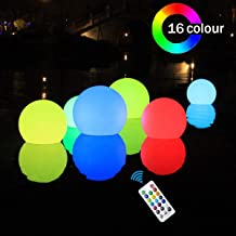 SHYMERY Floating Pool Lights,2019 Upgrade 3.2-inch RGB Color Changing LED Pool Balls with Remote Control, IP65 Waterproof Bath Toys, Perfect for Pool Swimming,Pond Decoration,Pack of 6