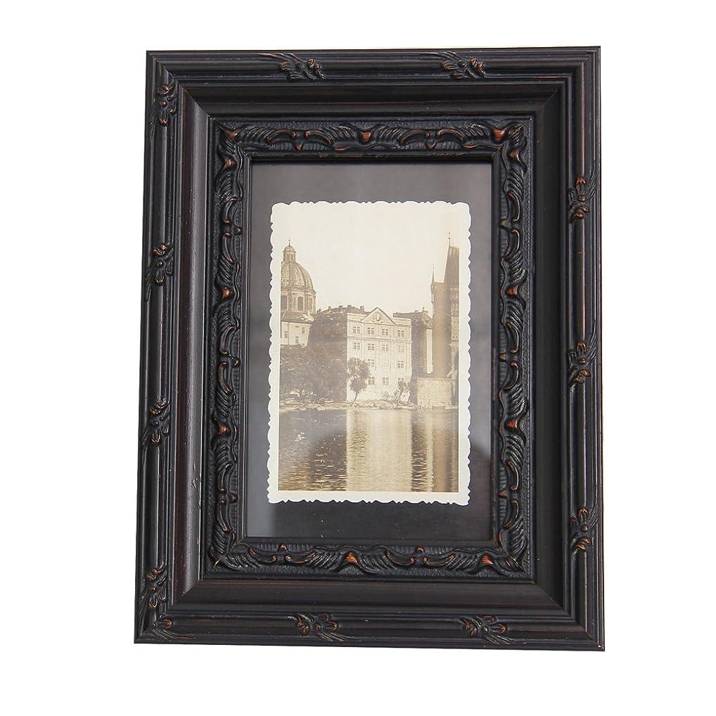 エロチックアクチュエータセットアップFulemay 木製フォトフレーム「木の芸術」シリーズ 写真立て KG判 ブラック