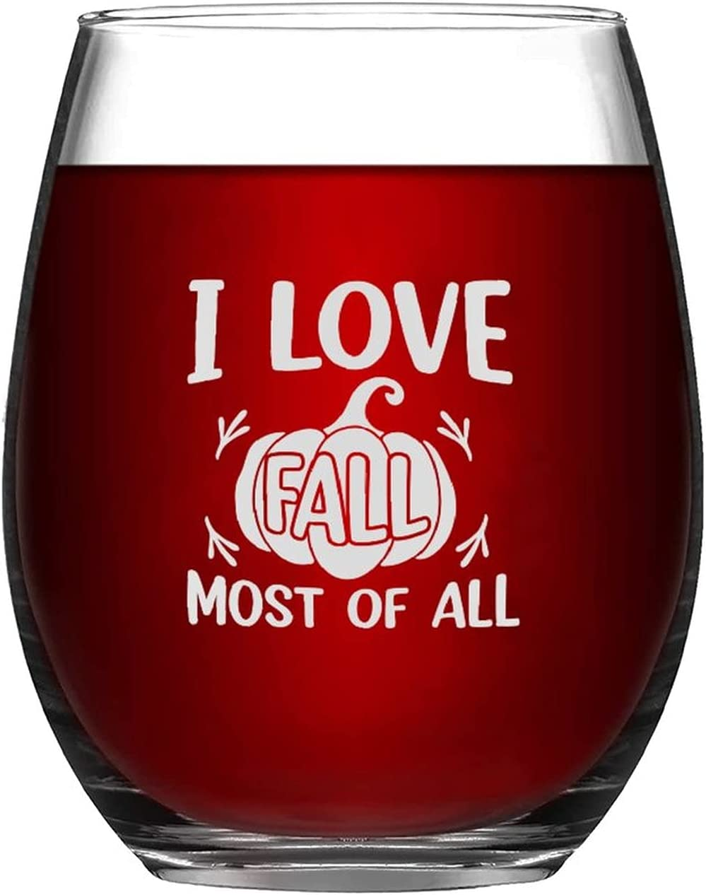 Wine Glasses I Max 78% OFF Love Fall Most Of half Happy Laser All Engraved Glass