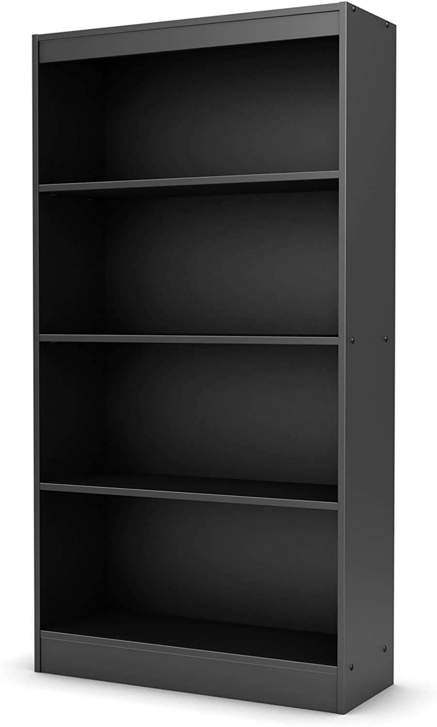 South Shore Furniture Axess Collection, 4-Shelf Bookcase, Black