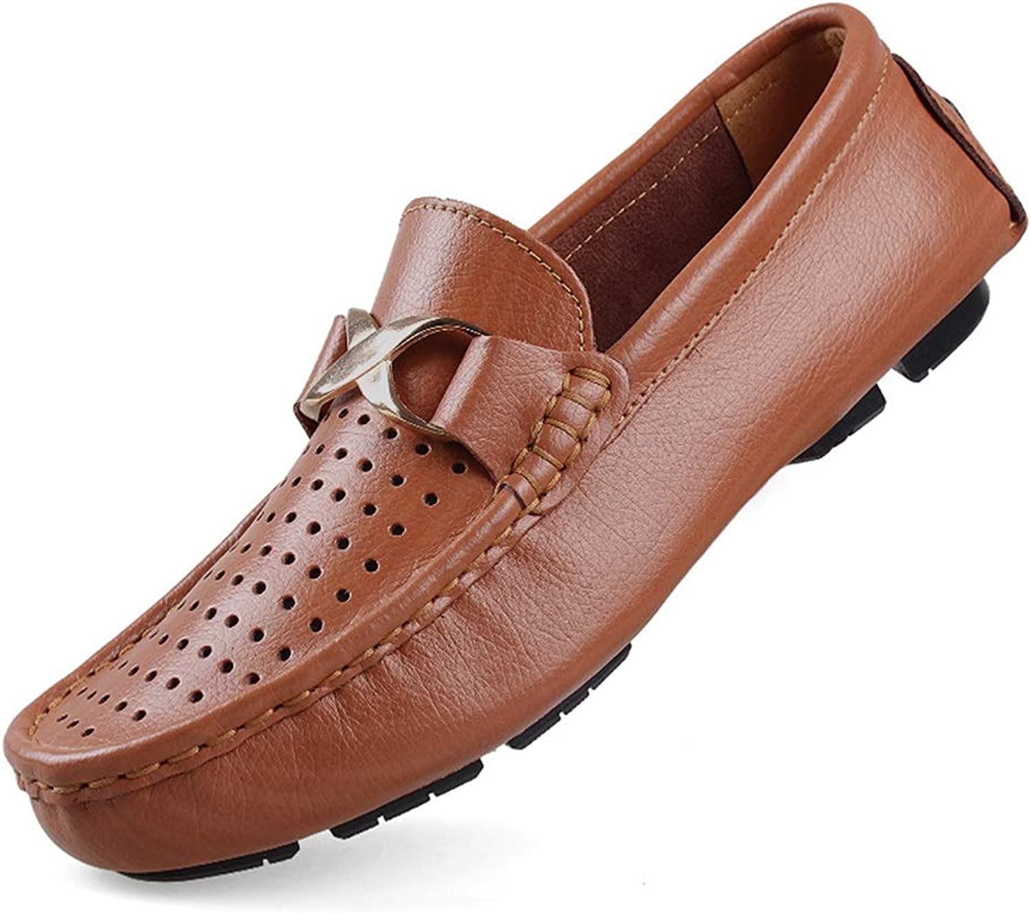 Oxford shoes Mens Formal Slip On PU Leather shoes Round Toe Low Top Big Size Breathable Hollow Vamp Cricket shoes