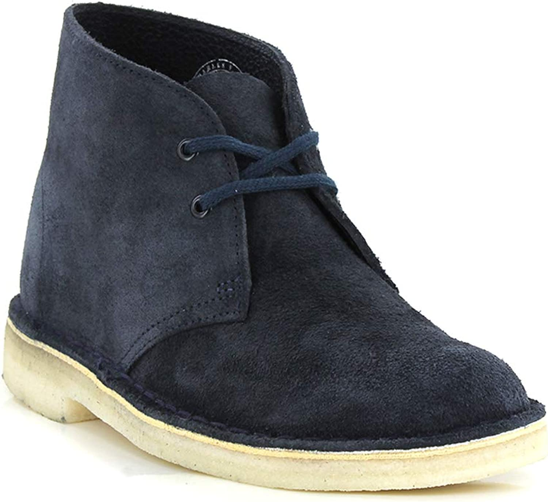 Clarks Damen Desert Stiefel, blau, 40 EU