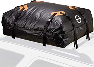 AKM Roof Top Cargo Bag,Water Proof Cargo Carrier Bag Luggage Bag Travel Storage Box 15 Cubic Feet Perfect for Car, Truck, SUV, Van with Rack Or Rails