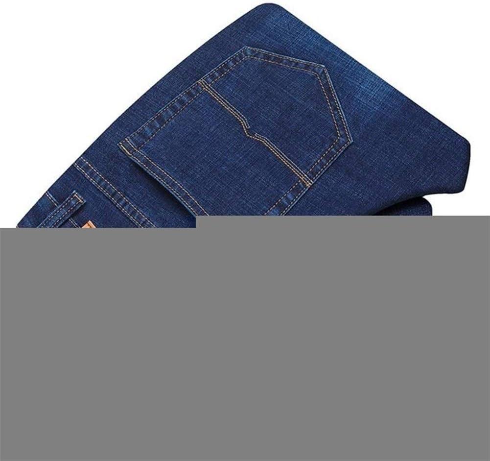 QWERBAM Men's Slim Elastic Jeans Denim Business New sales Trou Topics on TV Pants