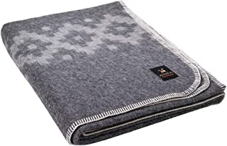 Thick Alpaca Wool Blanket Heavyweight Alpaca Wool Blanket Camping Outdoors or Indoors Soft Peruvian Alpaca Wool Blankets That Come in Twin Queen Size Ethnic Design (Gray - Light Gray Stripes, Twin)