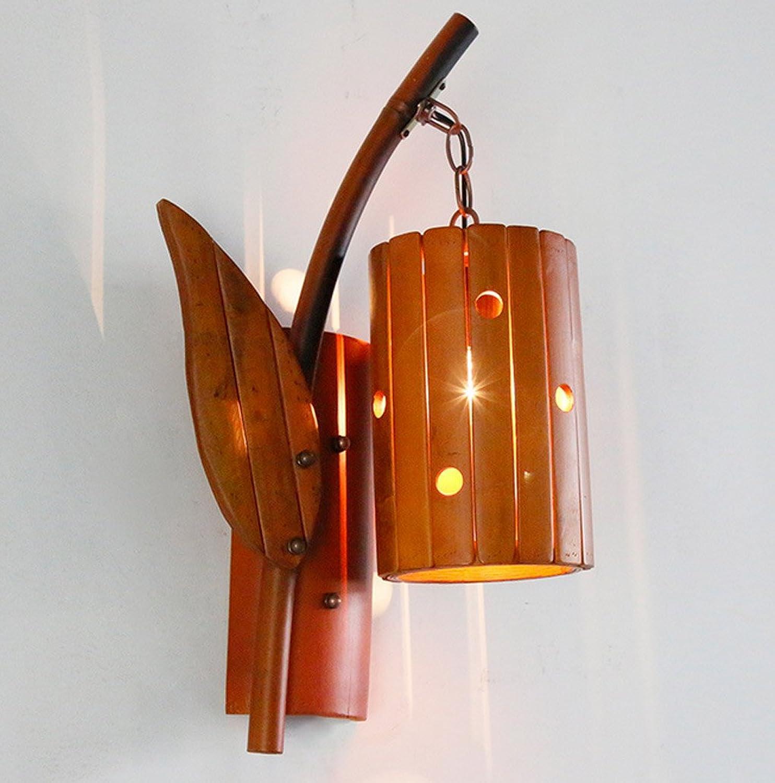 ZHDC Wandleuchte, Creative Antique Bamboo Licht Wandleuchte Restaurant Bambus Lichter Balkon Schlafzimmer Treppe Gang Retro Wandleuchte E27 Lichtquelle Leselampe