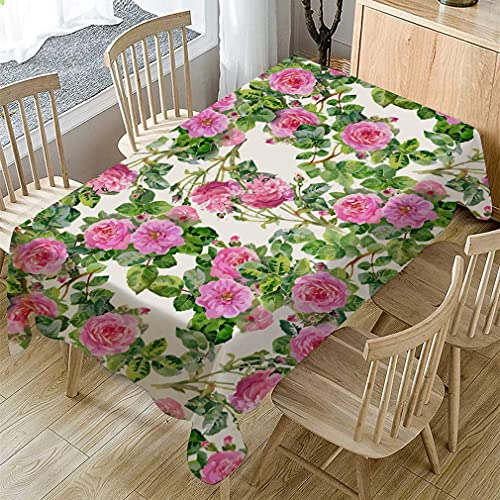 XXDD Mantel de Mesa de Comedor a Prueba de Polvo, Mantel con Estampado de Flores de Primavera, Cubierta de Mesa de Centro Rectangular, decoración del hogar, A4 140x180cm