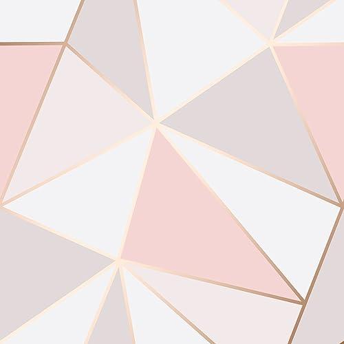 Apex Geo Wallpaper Rose Gold: Rose Gold Wallpaper: Amazon.co.uk