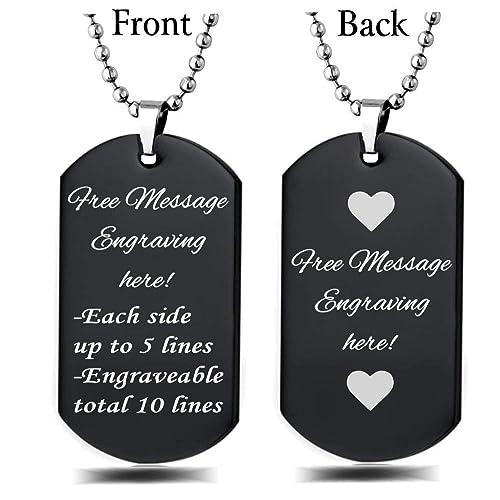 10a999c03936 Custom Dog Tags Necklaces: Amazon.com