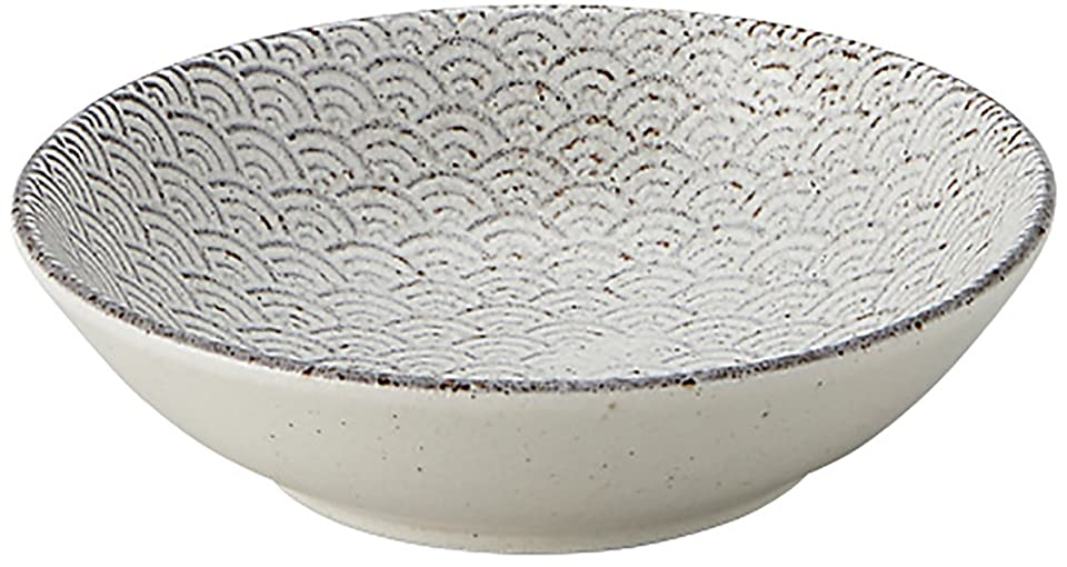 花に水をやる精算見積り光洋陶器 古代粉引き 浅ボウル 13.5cm 青海波 52283015