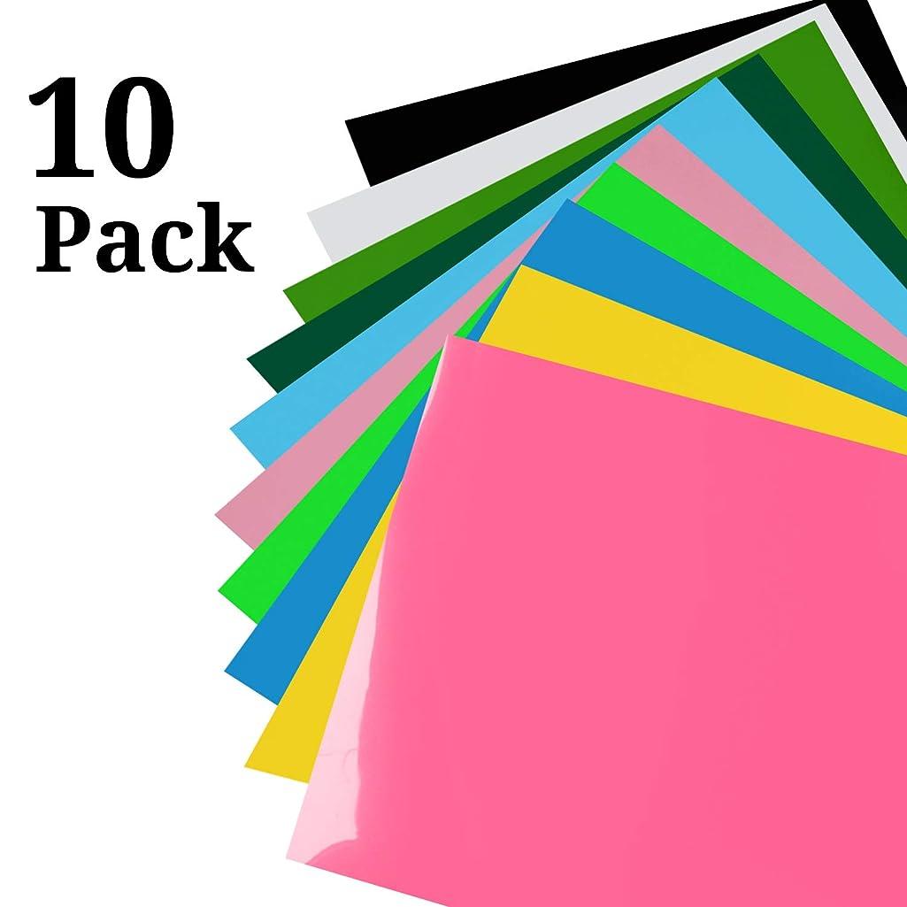 HTV Heat Transfer Vinyl 10 Pack Assorted Colors Bundle 12