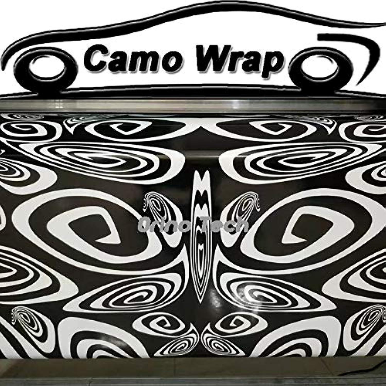 Black White Vinyl Film Car Wrap PVC Sticker Film Foil DIY Styling Wrapping with Air Bubble Free  (Size  152CMx10M 5X32FT)