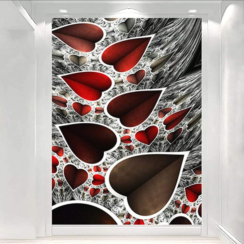Ponana Moderno Resumen Patrón De Amor Murales Wallpaper 3D Fondo De Arte Pintura Mural Sala De Estar Entrada Decoración Para El Hogar Wallpaper-200X140Cm