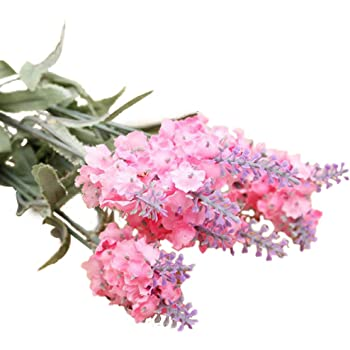 Lavender Artificial Paper Reed Flower Realistic Effect Decoration