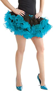 Rimi Hanger Womens 2 Layer Short Ruffle Tutu Skirt Ladies Party Dance Wear Fancy Mini Skirt