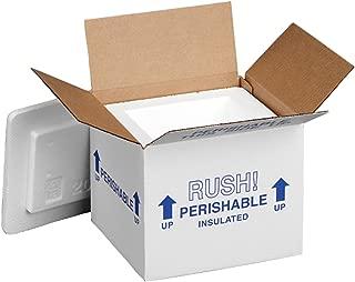 Polar Tech 205C Thermo Chill Insulated Carton with Foam Shipper, Small, 6