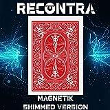 RecontraMago Magia - Magnetic Cards - Preparadas en Cartas Bicycle Originales - Trucos de Magia para niños y Adultos (SHIMMED (atraída por imán), Rojo)