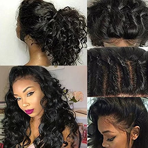 Human Full Lace Wigs Glueless Brazilian Perruque Cheveux Humain Full Lace Wigs Loose Body Wave Sans Colle 180% Density Lace Wigs with Baby Hair (24 in