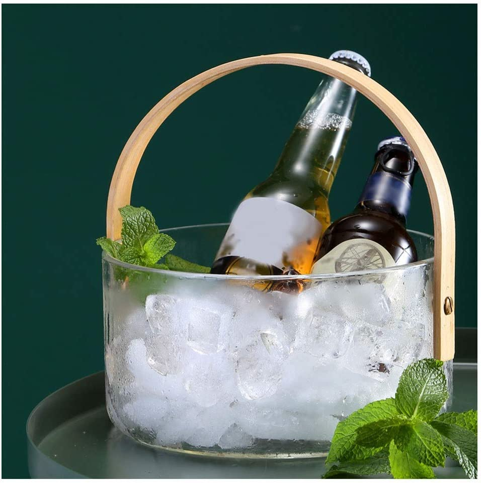 Ice Bucket for Home Bar Ranking TOP16 Hou Handle Glass Popular shop is the lowest price challenge With Novelty