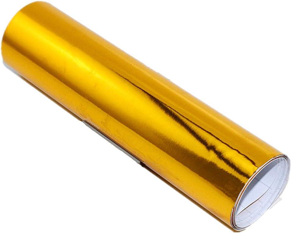 Moyishi 24''x60''Chrome Mirror Golden Vinyl wholesale Max 90% OFF Wrap G Decal Sticker