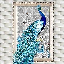 Diy 5d Diamond Bordado Mosaico Pavo Real Alma Amor Kits De Punto De Cruz 32 * 45 Cm