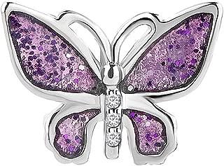 Daisy Jewelry Purple Butterfly Love Charm Beads for European Charms Bracelet