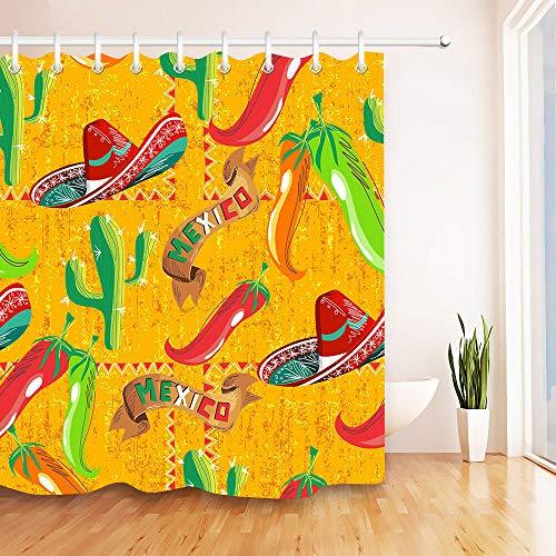 Creativo de Dibujos Animados Peces Estrella de mar Floral Ducha Cortina Set baño Tela Impermeable