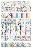 AIUIN 48 Piezas Pegatina de Uñas Francesas Guías de Clavar Tip Pegatinas Conjunto con Diferentes Formas para Uñas de Manicura,54 * 64MM