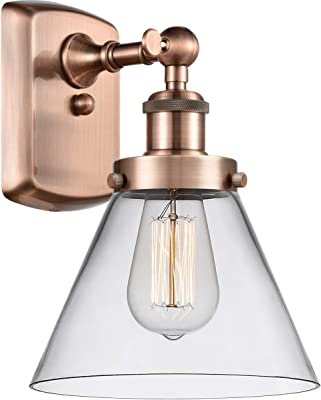 Nuvo Lighting 60 5414 Vintage Incandescent One Light Wall Sconce Cone Clear Glass Polished Nickel Amazon Com