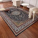 LJNYF Traditioneller Roter Teppich,Traditioneller Orientteppich, Rutschfester Weicher Wohn-esszimmerteppich, Leicht Zu Reinigen, Roter Teppich