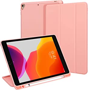 Simpolor Case for iPad Pro 10.2 Inch 8nd Generation 2020 & 7nd Generation 2019, [Support Apple Pencil Charging] and [Auto Wake/Sleep], Premium PU + Soft TPU Dual Protection Case with [Pencil Holder]
