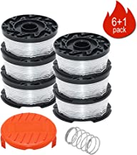 Weed Eater Replacement Parts Compatible with Black&Decker AF-100 GH600 GH900,Replacement RC-100-P Spools Caps&Springs and 30ft 0.065
