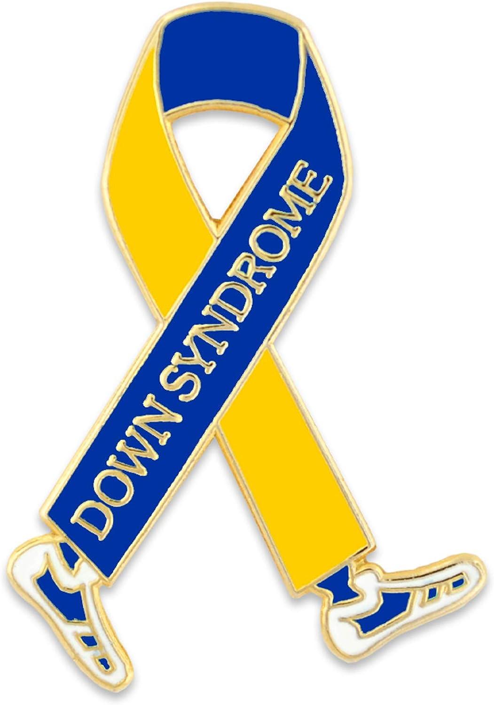 PinMart Virginia Beach Mall Down Syndrome Awareness Max 73% OFF Enamel Lapel Walk Ribbon