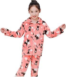 Sumeier بيجامة بأكمام طويلة للشتاء الدافئ مجموعة أزياء الكرتون للأطفال الصغار الأولاد والبنات 130 1