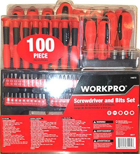 WORKPRO 100-Piece Variety Pack Screwdriver Set