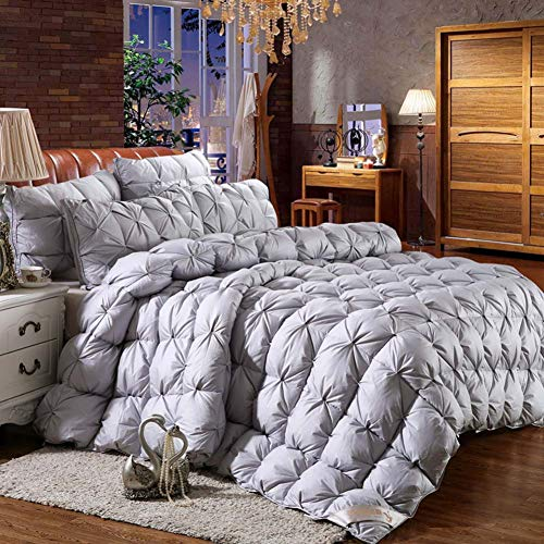 YXZN King Size Duvet Luxurious Goose Feather Down Quilt, Down King Size Bed Duvet, 100% Cotton Shell, Anti-dust Mite Feather-proof Fabric Anti-allergen
