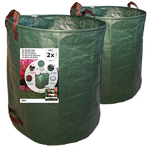7DOO Sacos Jardin Set 2X 272L 2da Generación, Bolsas Basura Jardin, Bag, Cesto Jardin, Herramientas Jardinería Kit Jardineria Productos De Jardineria Bolsa Reutilizable Contenedores En Polipropileno