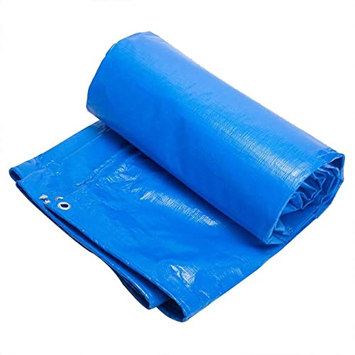 LPYMX Refuge de Camping Bache de bache, Pare-Soleil imperméable à l'eau de Soleil, Isolation de bache de Voiture de Cargaison de poussière de poussière (Couleur   Bleu, Taille   5 x 8m)